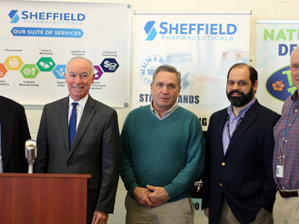 Congressman Courtney Appears at Sheffield Pharmaceuticals