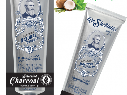 Dr. Sheffield's Naturals Introduces Activated Charcoal Toothpaste